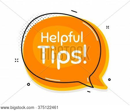 Helpful Tips Symbol. Thought Chat Bubble. Education Faq Sign. Help Assistance. Speech Bubble With Li
