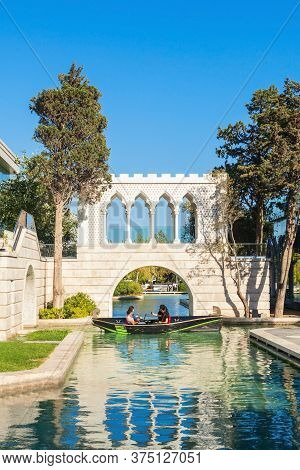 The Little Venice Water Park Is Located On The Baku Boulevard In The Center Of Baku City In Azerbaij