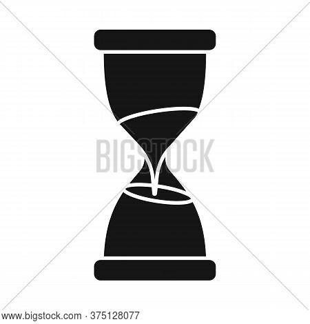 Vector Design Of Sandglass And Timer Sign. Web Element Of Sandglass And Minute Stock Vector Illustra