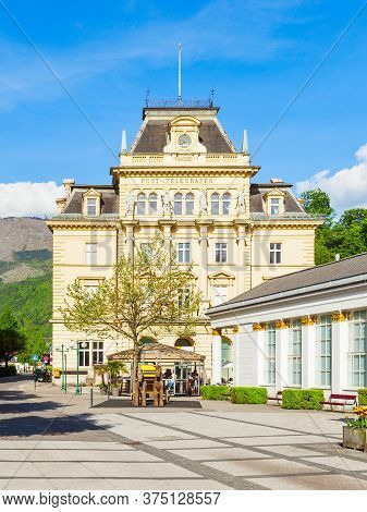 Post And Telegraph Building In The Centre Of Bad Ischl, Upper Austria. Bad Ischl Is A Spa Town In Sa