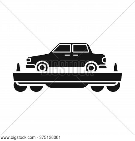 Vector Illustration Of Wagon And Cargo Icon. Graphic Of Wagon And Vehicle Vector Icon For Stock.