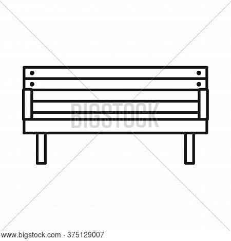 Vector Illustration Of Bench And Furniture Sign. Web Element Of Bench And Seat Vector Icon For Stock