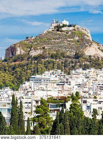 Mount Lycabettus, Also Known As Lykabettos, Lycabettos Or Lykavittos. It Is A Cretaceous Limestone H