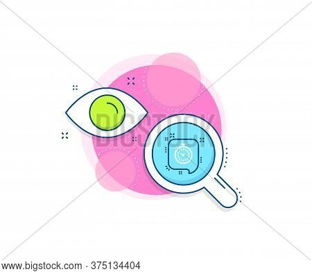 Time Or Clock In Speech Bubble Sign. Research Complex Icon. Timer Line Icon. Analytics Or Analysis B