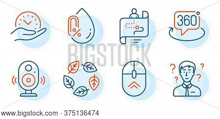 Safe Time, Organic Tested And Swipe Up Signs. Support Consultant, Journey Path And Speaker Line Icon