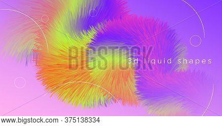 Dynamic Color Fluid. Wave Concept. Gradient Movement. Vector Creative Flyer. Digital Motion. Flow Co