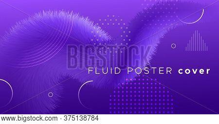 3d Fluid Vector. Wave Vibrant Movement. Abstract Background. Liquid Modern 3d Fluid Vector. Futurist
