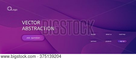 Fluid Background. Abstract Flow Shape Landing Page. Vector Dynamic Brochure. Color Technology Templa