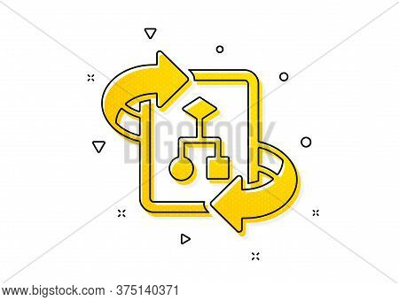 Project Documentation Sign. Technical Algorithm Icon. Yellow Circles Pattern. Classic Technical Algo