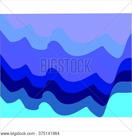Abstract Blue Background Wave Background, Modern Texture Background, Color Gradation Elegant Backgro