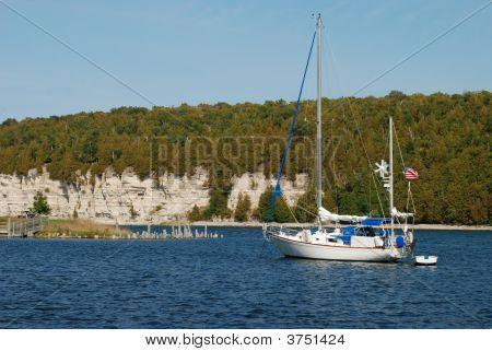 Sail Boat In Bay