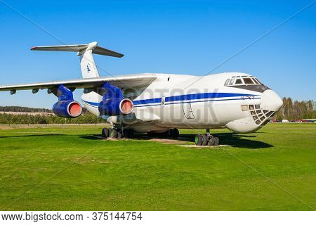 Minsk, Belarus - May 05, 2016: The Ilyushin Il-76 Aircraft In The Open Air Museum Of Old Civil Aviat