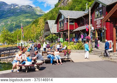 Oslo, Norway - July 29, 2017: Geiranger Is A Small Tourist Village In Sunnmore Region Of Norway. Gei