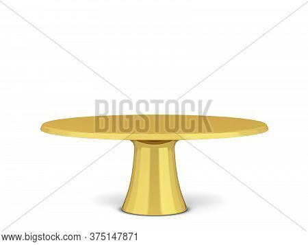 Modern Cake Stand. 3d Illustration Isolated On White Background