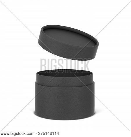 Tube Cardboard Package Mockup. 3d Illustration Isolated On White Background