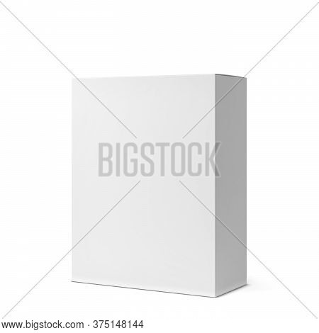 Blank Box Mockup. 3d Illustration Isolated On White Background