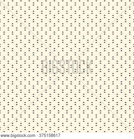 Repeated Mini Triangles On White Background. Simple Abstract Wallpaper. Seamless Pattern Design With
