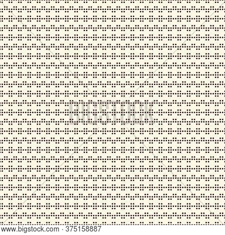 Polka Dot Seamless Pattern. Repeated Dotted Zigzag Stripes Texture. Round Spots Motif. Mini Circles
