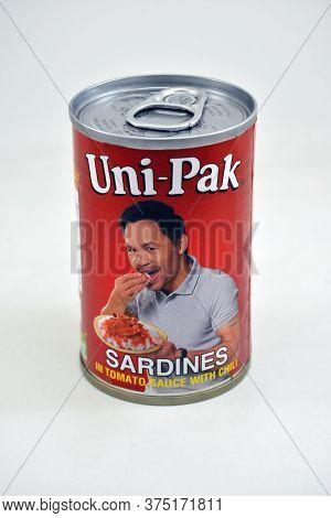 Manila, Ph - June 26 - Unipak Sardines Can On June 26, 2020 In Manila, Philippines.