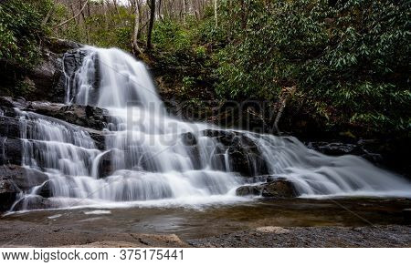 Long Exposure Of Laurel Falls In The Smokies