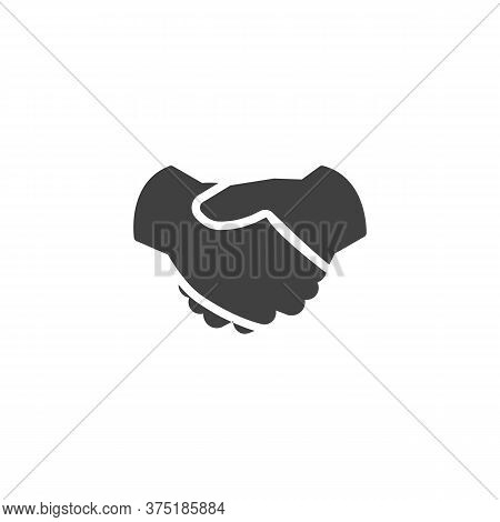Agreement Handshake Vector Icon. Filled Flat Sign For Mobile Concept And Web Design. Deal Handshake