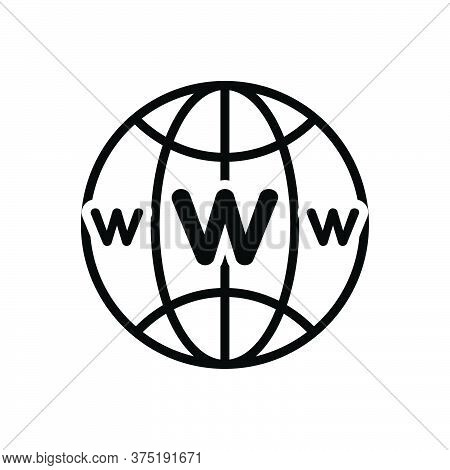 Black Solid Icon For Www Web Website Site Connection Browser Global