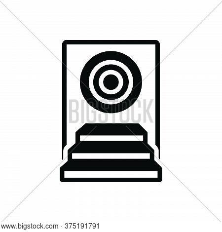 Black Solid Icon For Achievement Success Achieve Competition Award