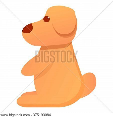 Puppy Dog Doll Icon. Cartoon Of Puppy Dog Doll Vector Icon For Web Design Isolated On White Backgrou