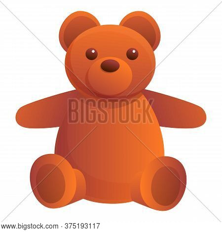 Teddy Bear Doll Icon. Cartoon Of Teddy Bear Doll Vector Icon For Web Design Isolated On White Backgr