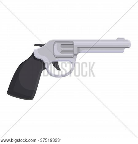 Investigator Revolver Icon. Cartoon Of Investigator Revolver Vector Icon For Web Design Isolated On
