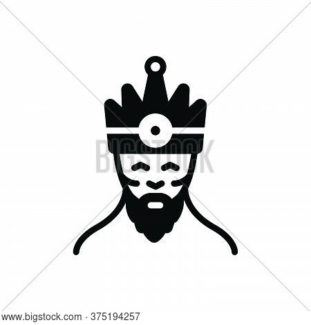 Black Solid Icon For King Monarch Ruler Duke Person Chief