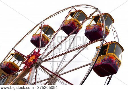 Very Old Color Carousel As Fun Background