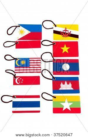 Ten Asean Member Countries  Flag Tag
