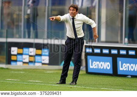 Milano, Italy. 05th July 2020. Italian Football Serie A. Antonio Conte Head Coach Of Fc Internaziona
