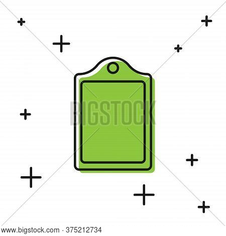 Black Cutting Board Icon Isolated On White Background. Chopping Board Symbol. Vector