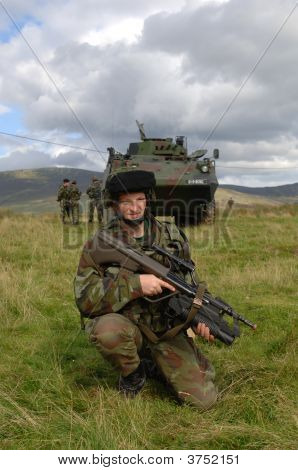 Soldier And Apc