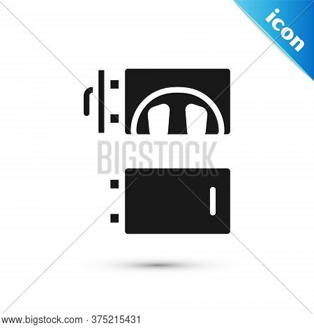 Grey Crematorium Icon Isolated On White Background. Vector