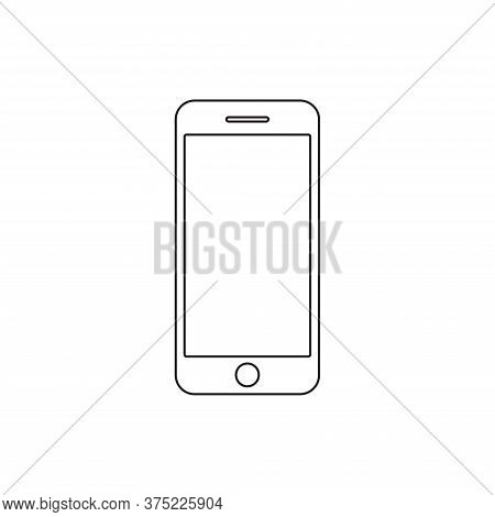 Smartphone Icon Isolated On White Background. Smartphone Icon In Trendy Design Style For Web Site An