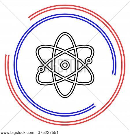 Atom Icon, Atom Vector Symbol, Chemistry And Science Research, Molecule Illustration, Chemistry Scie