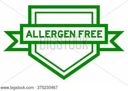 Vintage Color Pentagon Label Banner With Word Allergen Free On White Background