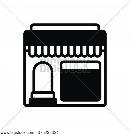 Black Solid Icon For Restaurant Shop Cafe Food Mess Canteen Restaurateur
