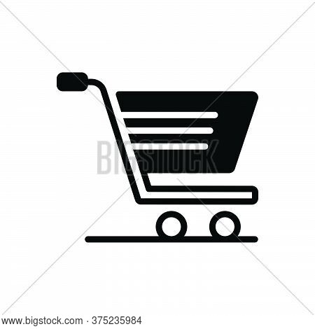 Black Solid Icon For Shopping Cart Purchase Trolley E Commerce Ecommerce