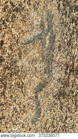Petroglyphs In Karelia, Belomorsk District, Russia.