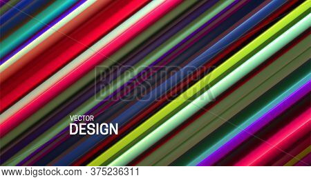 Colorful Layered Surface. Abstract Geometric Background. Vector Illustration. Random Layers Pattern.