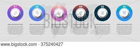 Vector Template Circle Infographics. Business Concept With 6 Options And Parts. Six Steps For Conten