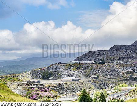 27 May 2019: Blaenau Ffestiniog, Gwynedd, Wales, Uk - Slate Mine Belonging To Welsh Slate, The Only