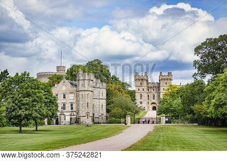 5 June 2019: Windsor, Berkshire, Uk - Windsor Castle From The Long Walk In Windsor Great Park.