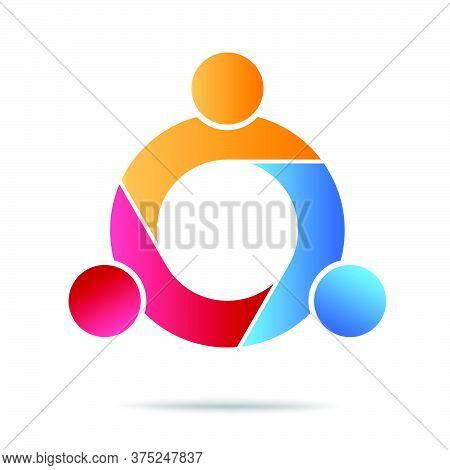 12-community, Support Sign  People Symbol. Vector Illustration