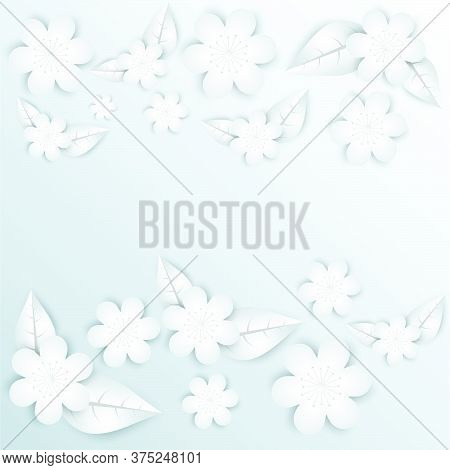 03-paper Flowers  Set Isolated  Vector Illustration.