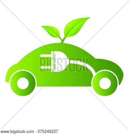 02-electric Car Concept Green Drive Symbol, Vector Illustration